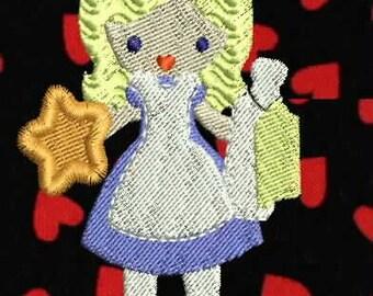 Alice In Wonderland Quilt Blocks  Machine Embroidery Design