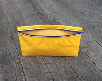 Pencil Case Oilcloth Yellow