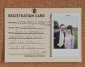 Guestbook alternative - 50  registration cards