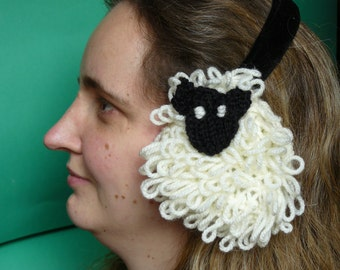 Knitted Sheep ear muffs
