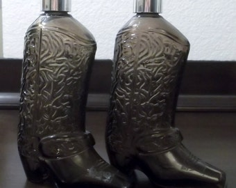 Avon wild country after shave cowboy boot decanter