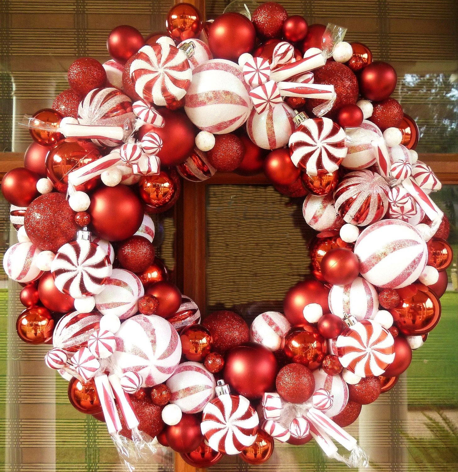 Christmas Candy Ornament Wreath Pre-Orders Ornament Wreath