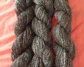 Three Niece Farm 100% Alpaca Yarn, Worsted 2.0 oz125 yards Brown/White Mix