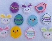 Easter Feltie Grab Bag - DIY Hair Clips (11) - Assortment -  Felt Embroidery Embellishment