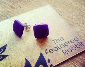 Deep Purple Ear Studs