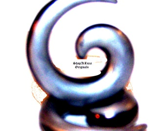 Hand Painted Avant Garde UV Spiral Ear Tapers Stretchers - PAIRED ITEM