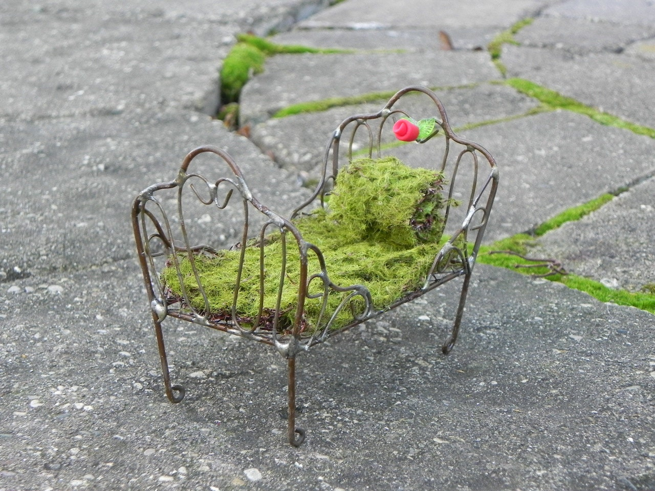 Fairy Bed Miniature Furniture For Fairy Garden Day Bed With