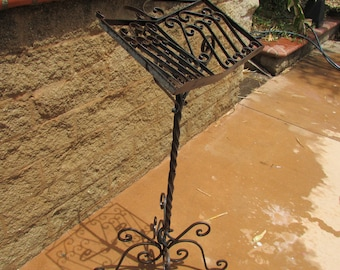 Wrought Iron Pulpit Lectern Music Sheet Holder