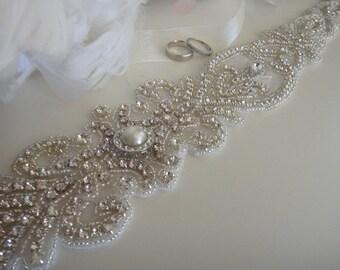 Bridal Belt, Swarovski Crystal Belt, Pearl Bridal Belt, Bridal Sash, Wedding Belt, Bridal Sash Belt, Pearl Bridal Sash, Beaded Bridal Belt