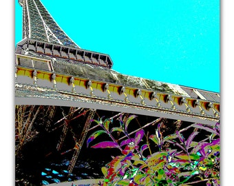 HOLIDAY SALE! Great Gift Idea High Contrast Abstract Phofo of Eiffel Tower, Paris