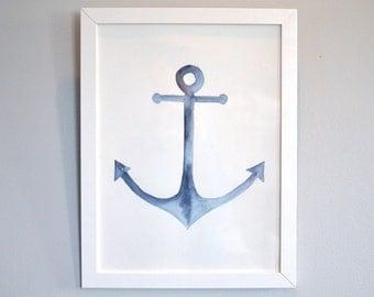 Anchor Watercolour Print - 12 x 16in