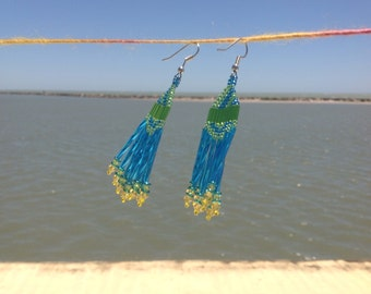Sea Side Swingers Beaded Earrings