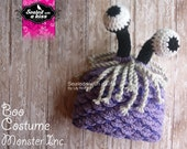 Boo Monster hat, Boo custome crochet, Inspired hat.