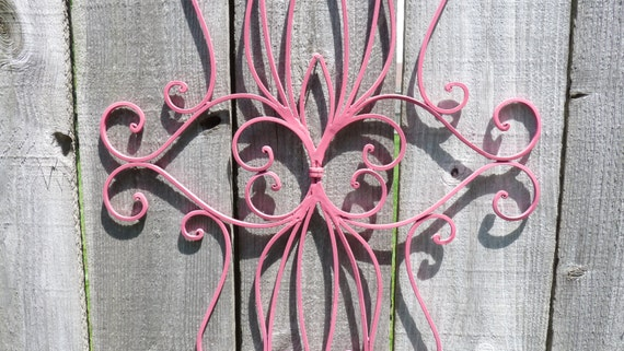 Outdoor Wall Art Metal Scroll : Wall art metal scroll decor hanging by