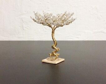 Mini Zen Garden Tree - Crystal and Gold
