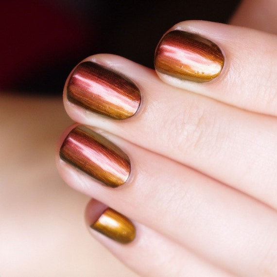 Nail Polish Colors Bronze: Red, Orange, Bronze, Gold Color Shifting Ultra