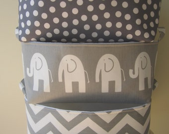 3 Large Fabric Bin organizers - diaper caddies