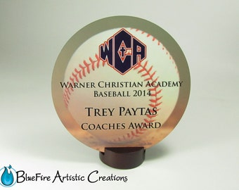 Custom Award Round Personalized Trophy Recognition Plaque