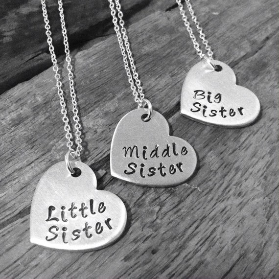 sister necklace matching little sister middle sister and big