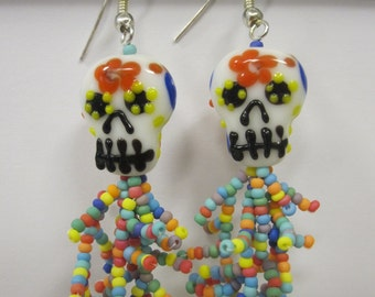 Dia de las muertas (skull)  earrings