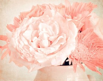 Nursery Wall Art - Girls Wall Decor - Pink Flower - Cottage Chic Wall Art - Flower Photography - Nature Photography - Vintage