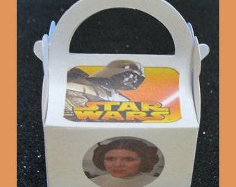Star Wars Favor Boxes, Luke Skywalker Birthday Party Supplies, Princess Leia  Favor Boxes
