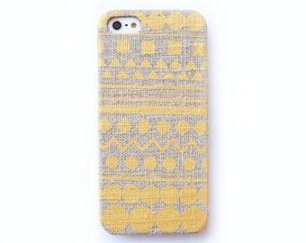 FABRIC - Gold iPhone 6 case, Geometric iPhone 5 case,  iPhone 5c case, Tribal iPhone 4s case