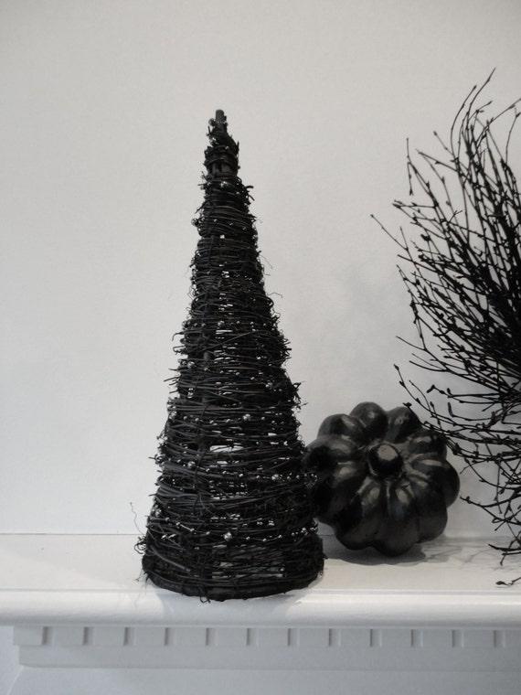 Halloween Black Grapevine Tree--Halloween Decor--Grapevine Tree--Spooky Chic Halloween Decor--Spooky Halloween Tree