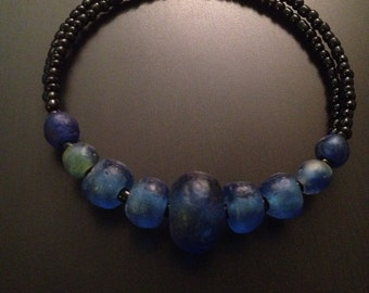 Afrocentric jewelry - Recycled Glass Ckoker