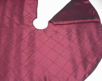 Burgundy Red Wine  Christmas tree skirt  384