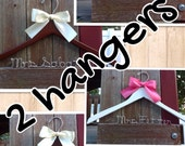 Set of 2 Personalized Hangers