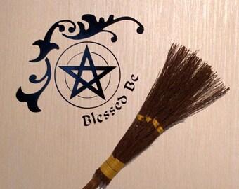 Floral Blessed Be   Vinyl Decal Wicca  Pagan Pentacle  Pentagram  20 cm x 20 cm