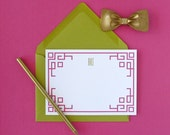 Chinoiserie Border Personalized Stationery - set of 15
