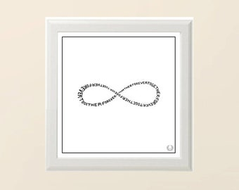 Infinity Sign Typography Poster in White