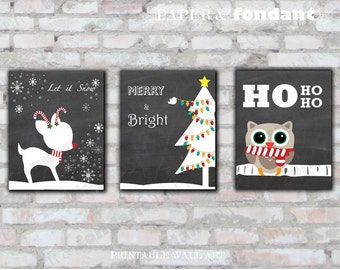 INSTANT DOWNLOAD - PRINTABLE 8x10 Holiday Poster Package