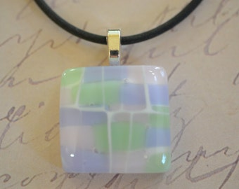 Pastel Pendant - FUSED GLASS JEWELRY - Glass jewelry - necklace - Jewelery - Pink - Lavender - Blue