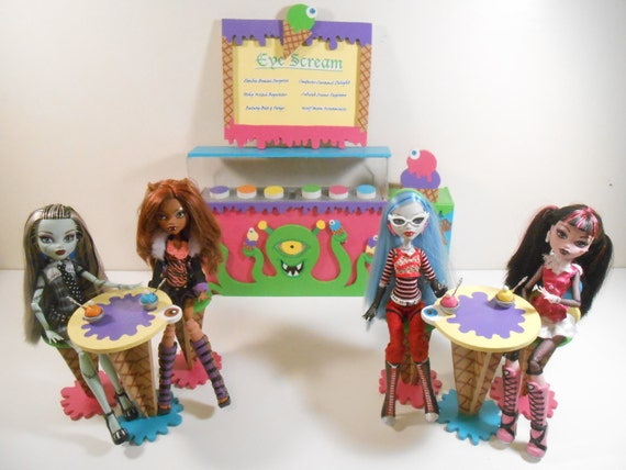 Items Similar To High School Monster Furniture Eye Scream Parlor 14 Piece Playset 1 6 Scale