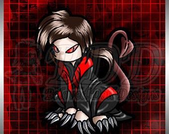 Chibi Void Vampire Anime Print 5x7 #532
