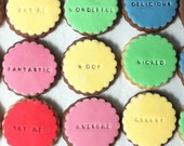 10 x customised colourful cookies