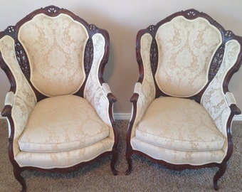 Incredible Antique French Bergere Chairs