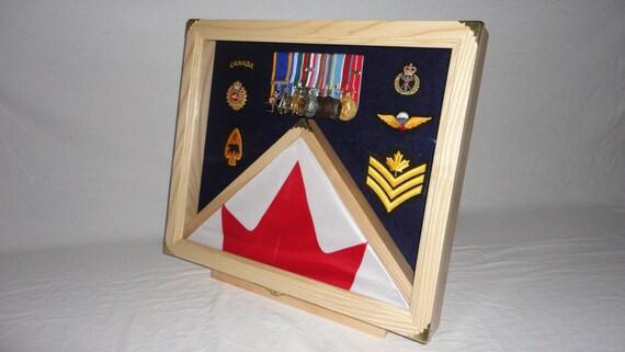 Flag Shadow Box Display Case Medals Display Flag Display