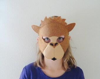 Camel Felt Mask