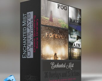 Enchanted Mist - Overlays &  Photoshop   Actions  - 36 Overlays and 25 Actions