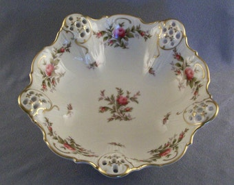 SALE  Rosenthal Moliere // Reticulated Bowl // Bomboniere // Candy Dish // Moosrose 2984-9 ***WAS 29.00