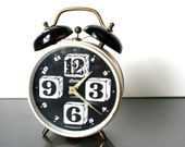 Vintage Dice Alarm Clock / Linden / West Germany / Black and White / Gambler's Clock / Fully Functional