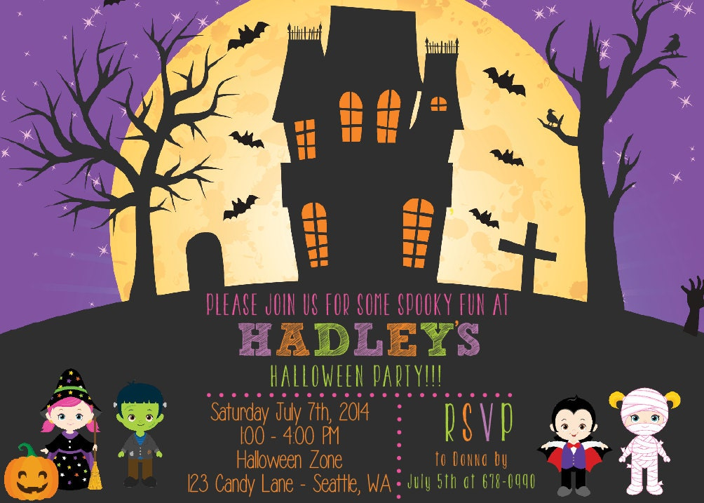Printable Halloween Invitation, ,DIY Haunted house, Haunted House ...