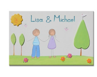 Personalized door sign, FAMILY door sign, Wedding Shower gift Door sign