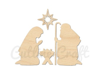 Unavailable listing on etsy for Nativity cut out patterns wood
