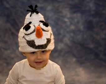 Olaf Hat, Frozen, Child, Baby, Olaf Costume, Beanie, Crochet, Kids, Accessories, Toddler, Girl, Boy, Frozen Costume