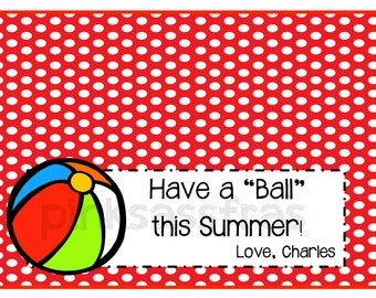 Have a Ball Treat Bag Topper